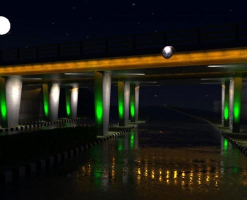 طراحی و اجرای نورپردازی پل علامه مجلسی