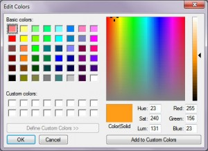 طیف های مختلف رنگ و نور در یک نرم افزار گرافیکی