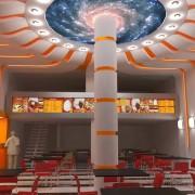 طراحی داخلی و نورپردازی فست فود تالی