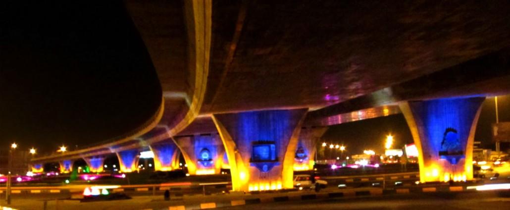 طراحی نور و نورپردازی تقاطع غیر هم سطح جمهوری اسلامی