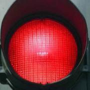 نور قرمز چراغ راهنما