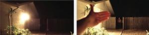 منبع نور مورد استفاده جهت روشنایی،در عکس سمت راست با پوشیده شدن منبع نور شما دید بهتری از محیط دارید.
