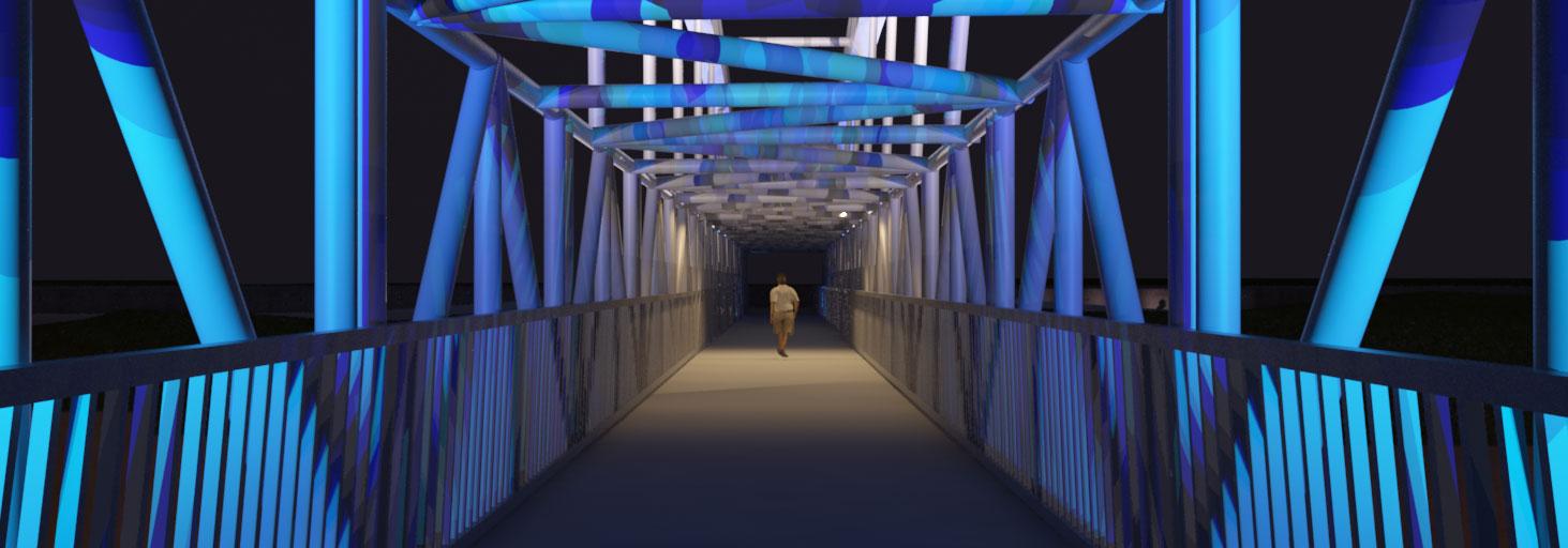 طراحی نورپردازی تقاطع غیر هم سطح شهید فهمیده مشهد