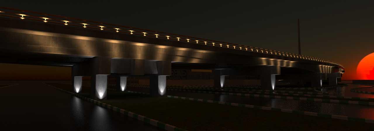 نورپردازی تقاطع غیر هم سطح جانباز مشهد