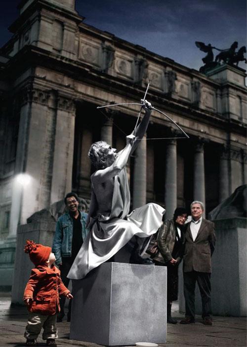 طراحی نورپردازی مجسمه تیرانداز-سراحی نورپردازی توسط فیلیپس لایتینگ Philips Lighting