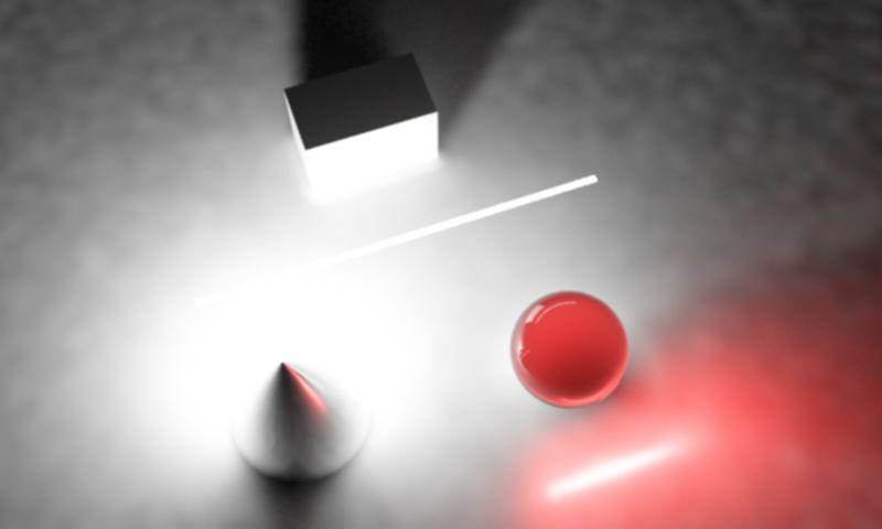 یک منبع نور خطی در محیط سه بعدی