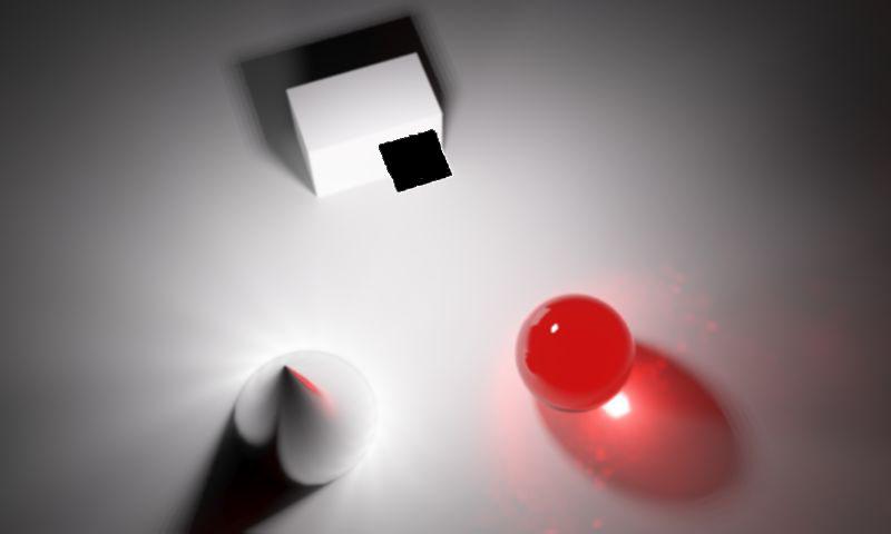 شبیه سازی یک منبع نور فلادلایت در یک محیط فرضی