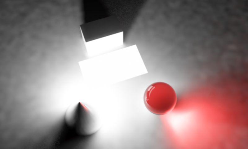 یک منبع نور مسطج در محیط سه بعدی