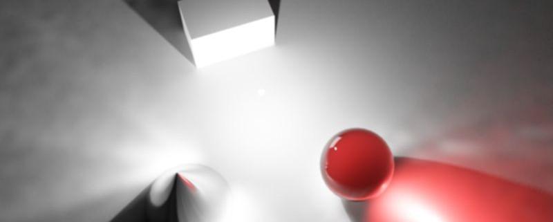 یک منبع نور نقطه ای در محیط سه بعدی