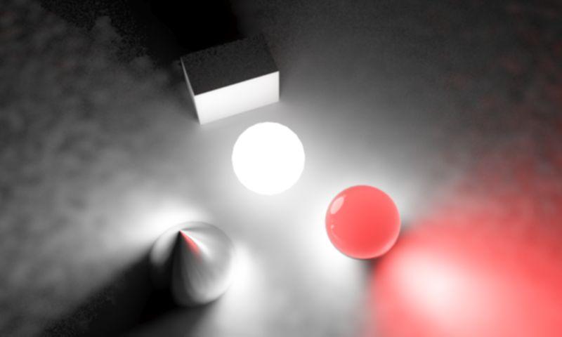 یک منبع نور کروی در محیط سه بعدی