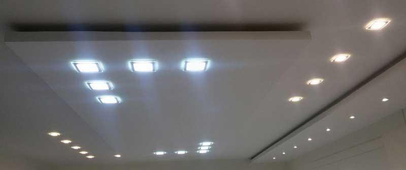 یک نمونه اجرا شده از روشنایی با منابع نوری SMD دارای مات کننده Diffuser ، روشنایی منازل مسکونی