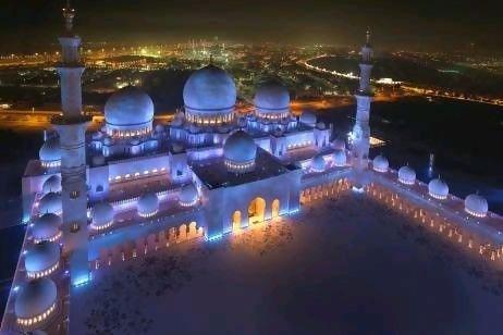 نورپردازی منتخب مسجد شیخ زاید ابوظبی
