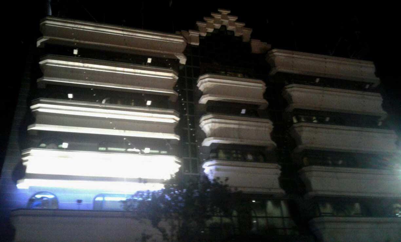 تست اولیه نورپردازی هتل نور مشهد- برآورد طراحی انتخابی