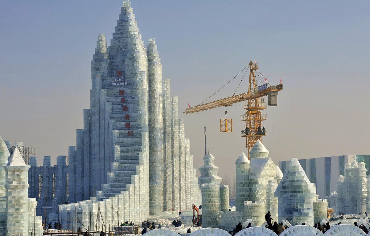 نمایی زیبا از شهر یخ-شهر هاربین