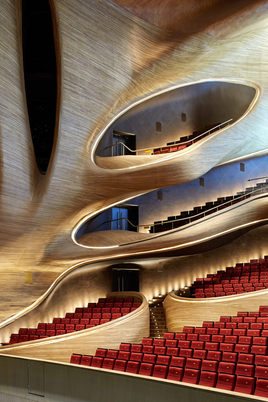 نورپردازی داخلی خانه اپرای هاربین-نورپردازی جایگاه های تماشاچیان