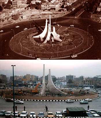 شناسه قدیم میدان پانزده خرداد مشهد-فلکه ضد